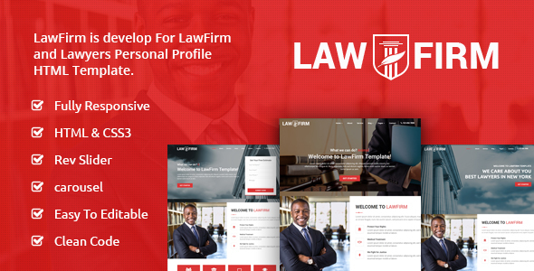 Image of LawFirm - Lawyers Html Template