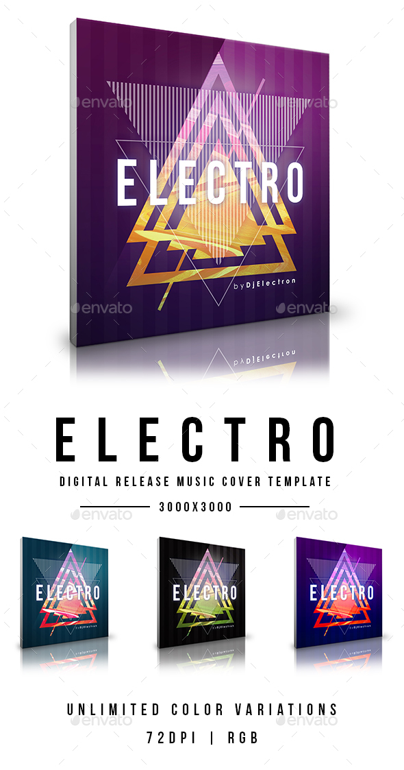 GraphicRiver Electro Digital Release Music Cover Template 20869032