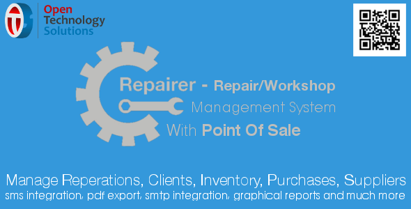 CodeCanyon Repairer Repair Workshop Management System With Point Of Sale 20869216