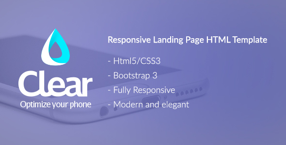 Clear - Bootstrap Landing Page HTML Template