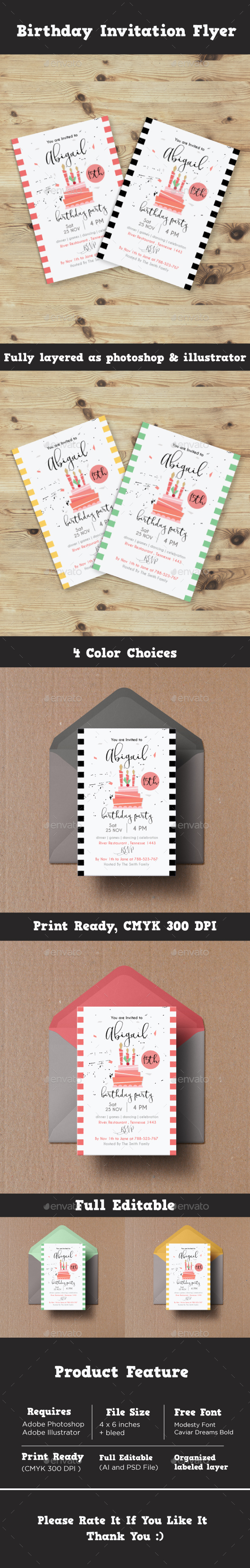 GraphicRiver Birthday Invitation Flyer 20869261
