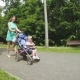 Mom and Daughter in a Stroller