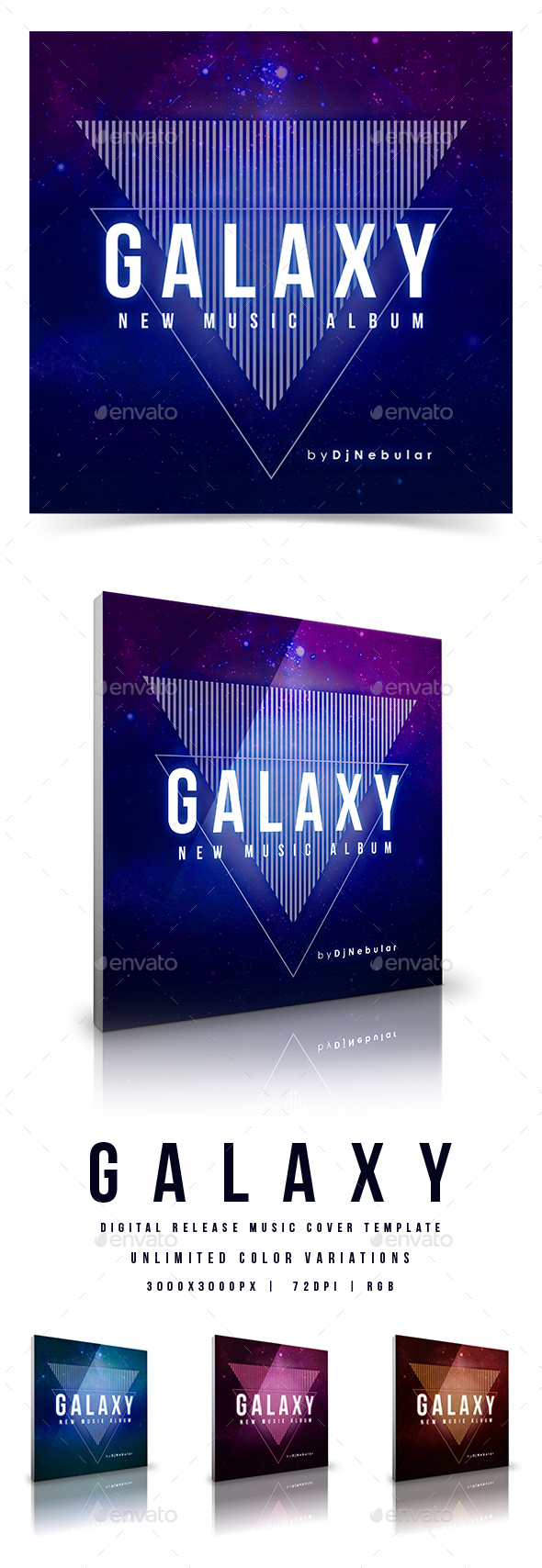 GraphicRiver Galaxy Web Music Cover Template 20869299