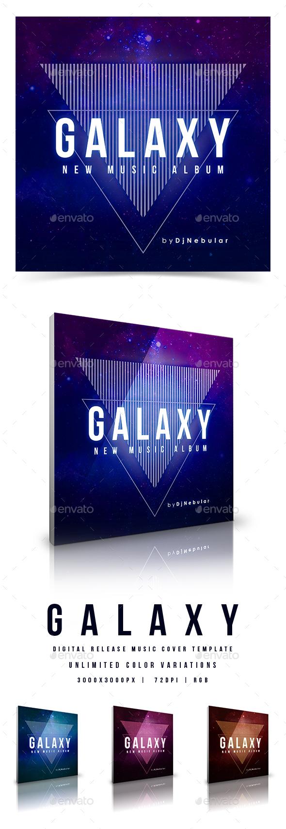 Galaxy - Web Music Cover Template - Miscellaneous Social Media