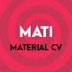 MATi | Material CV/Resume - ThemeForest Item for Sale