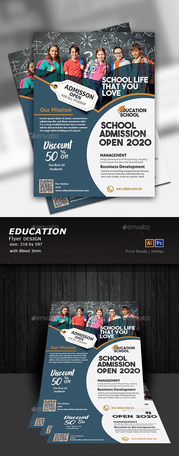 GraphicRiver Education Flyer Design 20869421