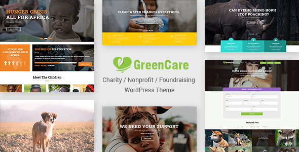 ThemeForest GreenCare All-in-one WordPress Theme For Charity And Nonprofit 20297714