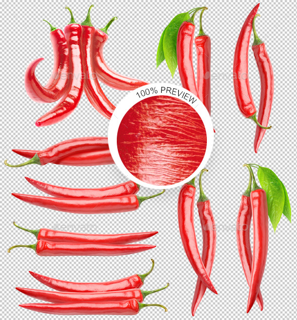 GraphicRiver Bunches of Red Chili Peppers 20869571