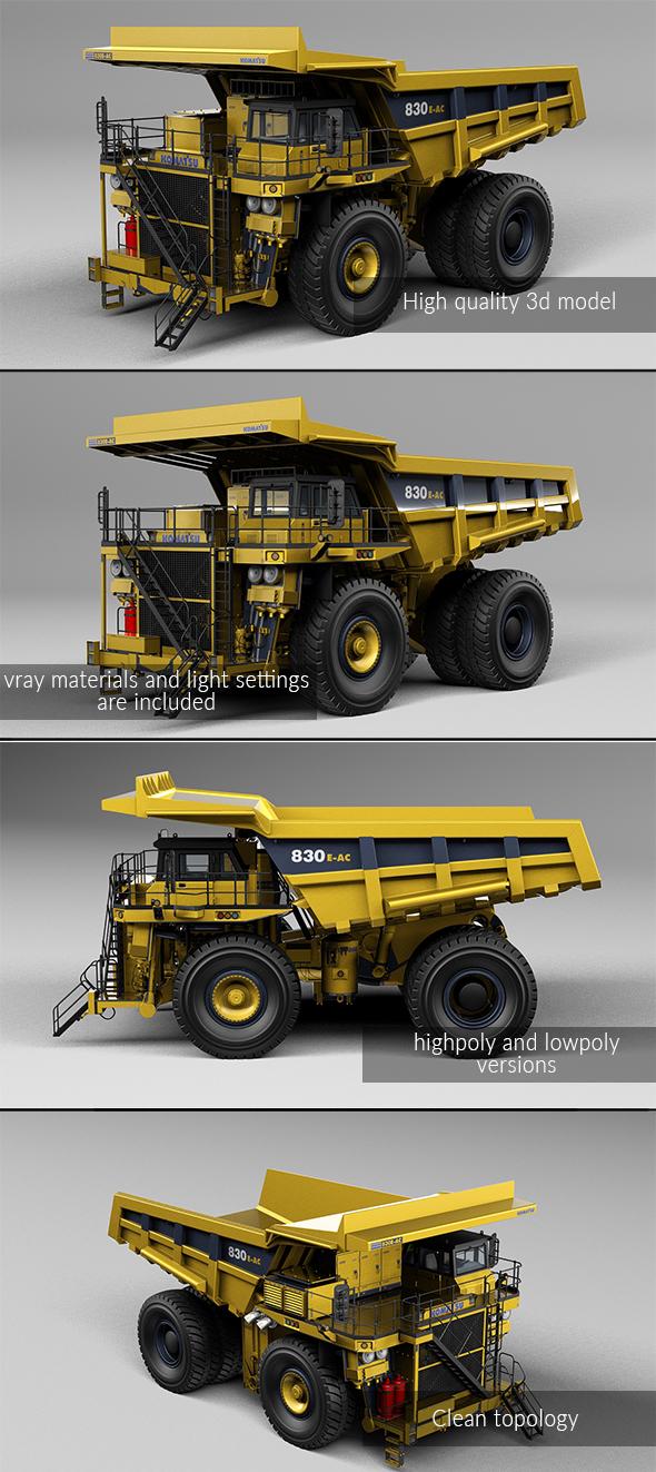 3DOcean Mining Truck Komatsu 830E-AC 20869791