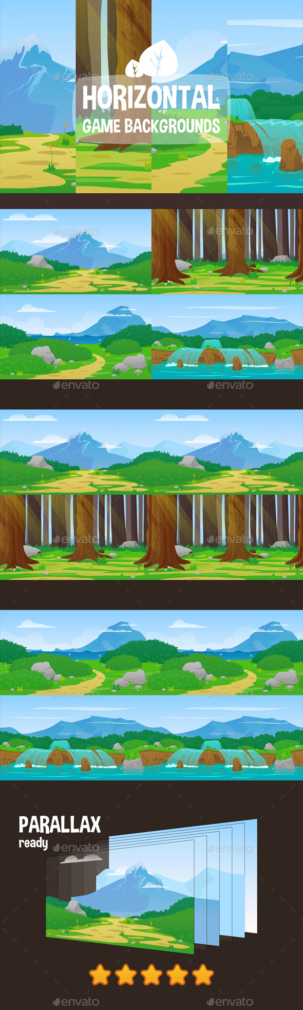 GraphicRiver Horizontal Game Backgrounds 20869794