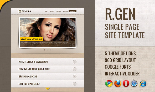 R.Gen - Single Page Site Template