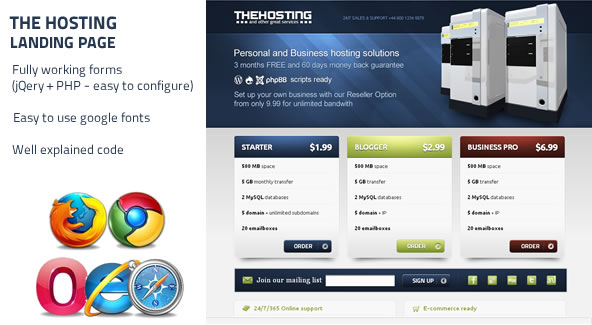Free Download The Hosting - Landing Page Nulled Latest Version