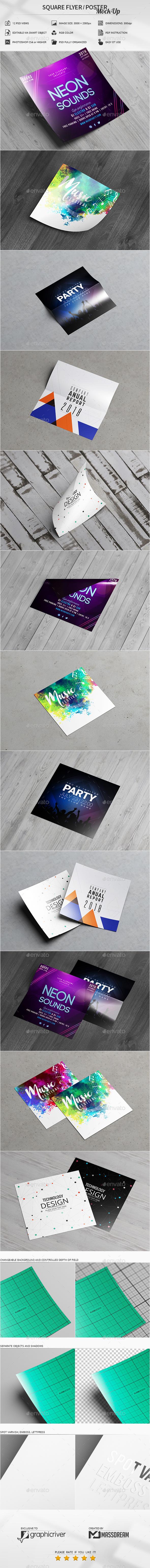 Square Flyer / Poster Mock-Up