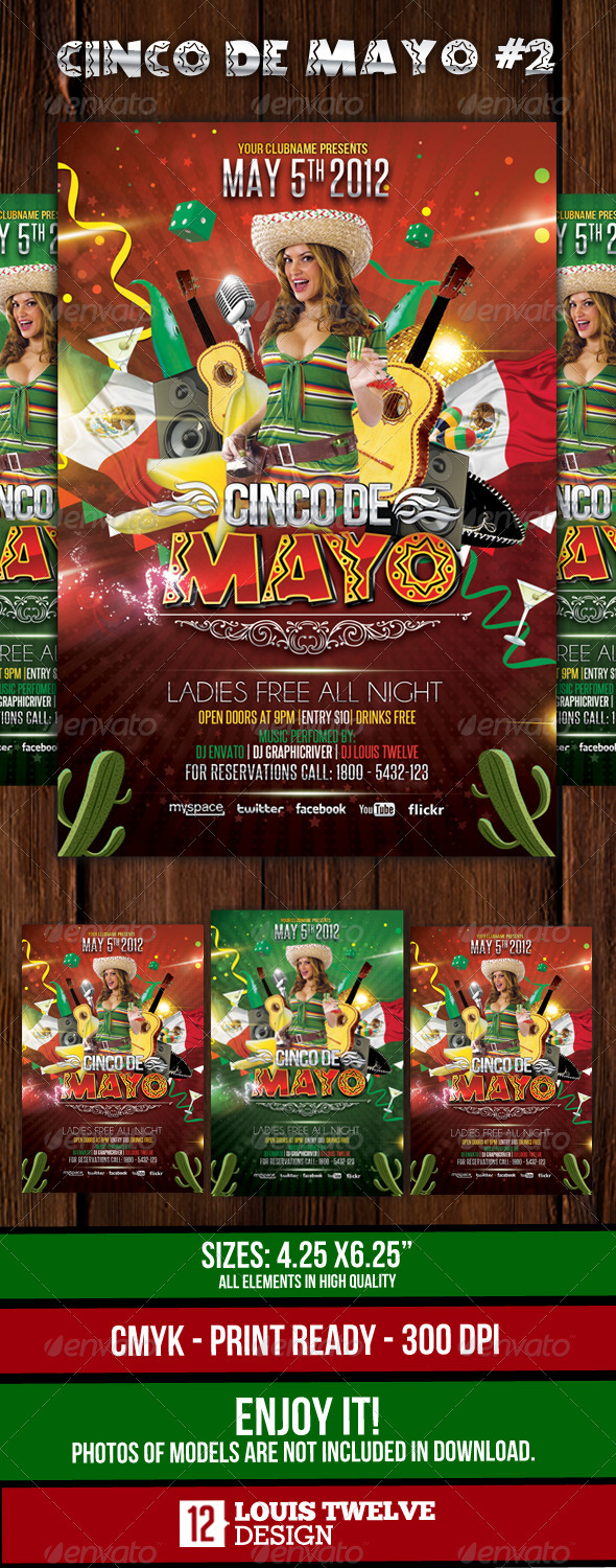 Cinco de Mayo Party #2 - Flyer Template - Events Flyers
