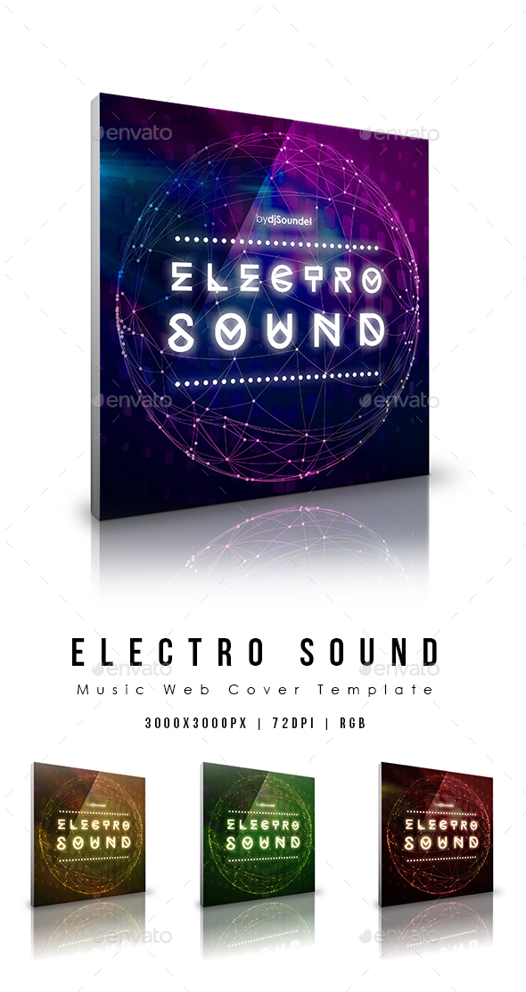 Electro Sound - Music Web Cover Template - Miscellaneous Social Media