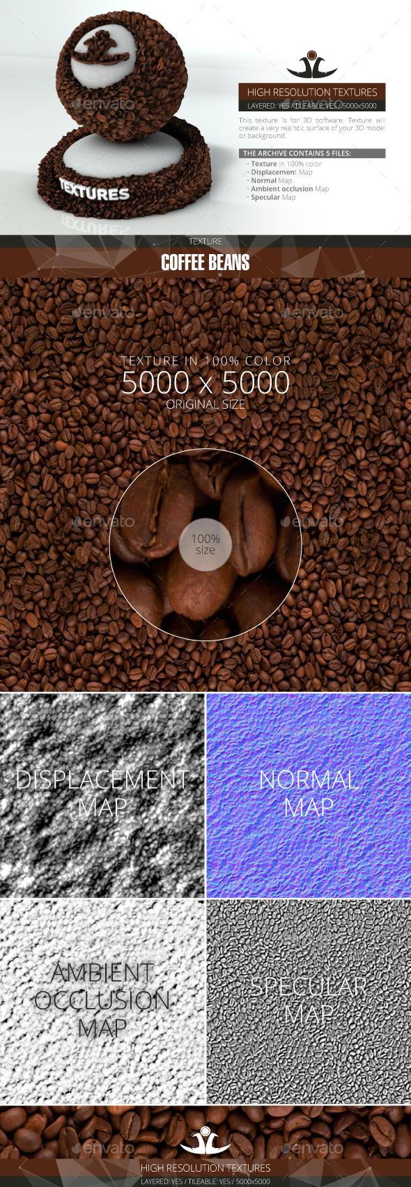 3DOcean Coffee beans 20870200