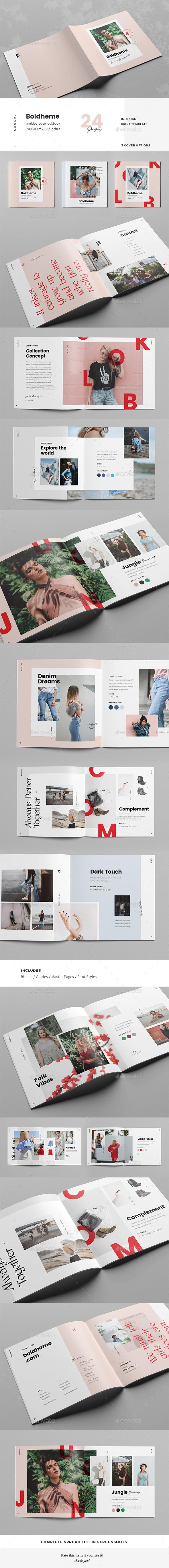 GraphicRiver Boldheme Modern Lookbook & Catalog 20870265