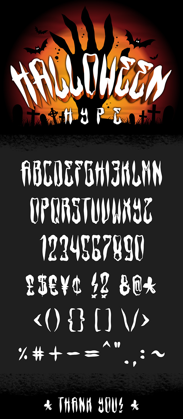 Halloween Hype - Decorative Fonts