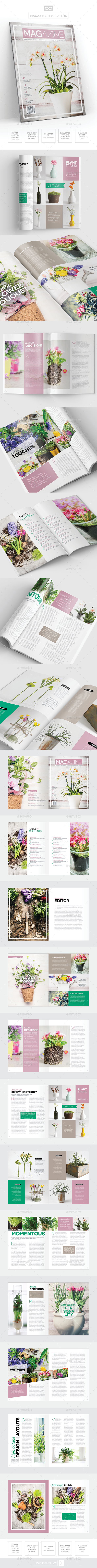 Magazine Template - InDesign 24 Page Layout V16 - Magazines Print Templates