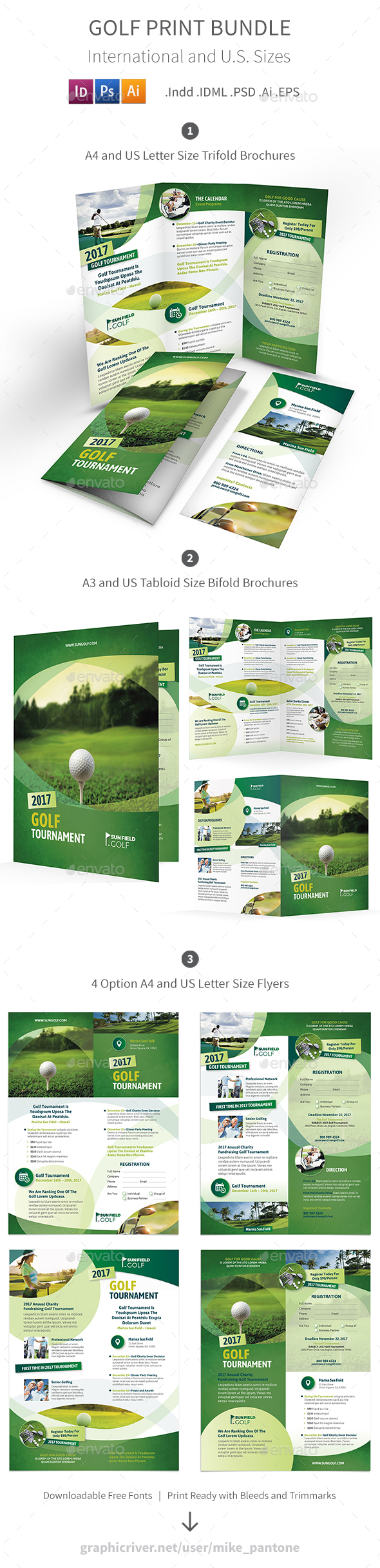 GraphicRiver Golf Print Bundle 7 20870514