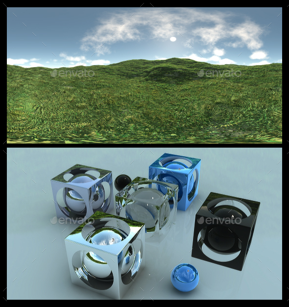 Open Grass Field 7 - HDRI - 3DOcean Item for Sale