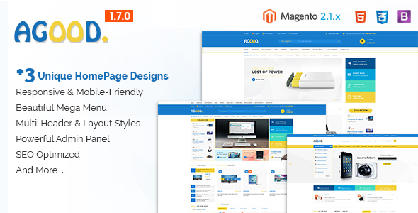Agood - Responsive Multipurpose Magento 2 Theme - Shopping Magento