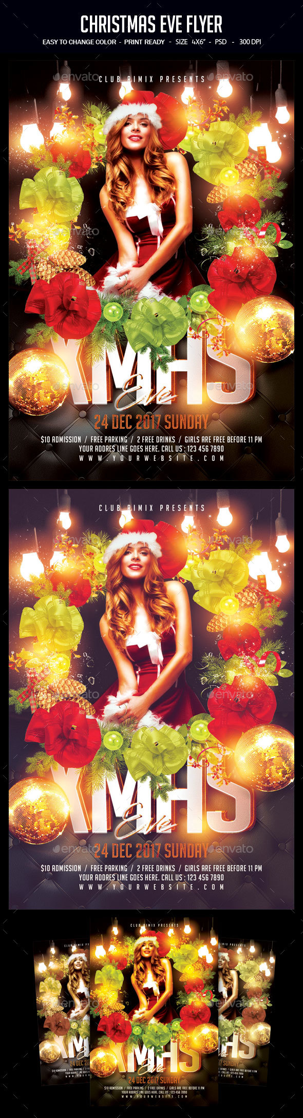 Christmas Eve Flyer - Clubs & Parties Events
