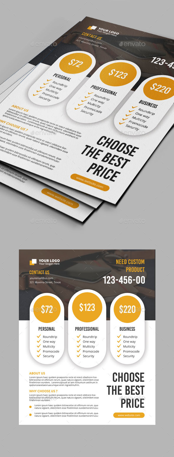 GraphicRiver Multipurpose Price Flyer 20870911