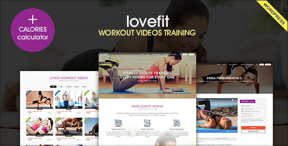 LOVEFIT - Fitness Video Training WordPress Theme