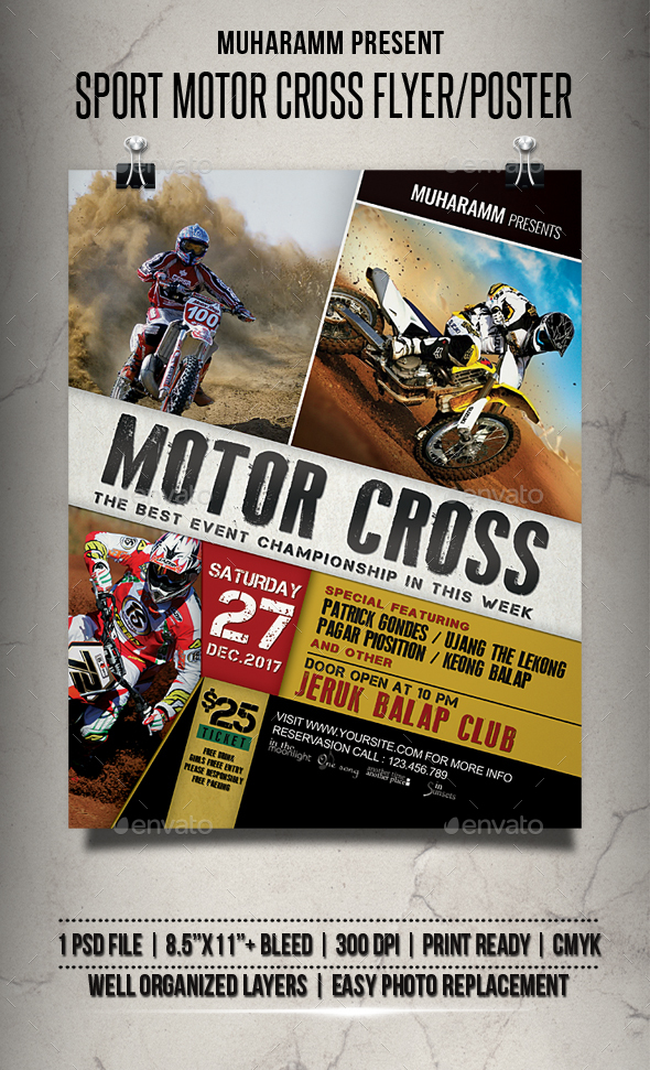 Sport Motor Cross Flyer / Poster - Events Flyers