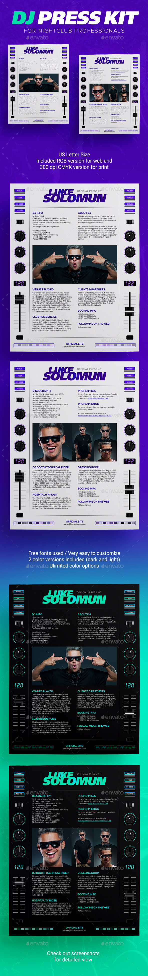 MaDJestik - DJ Press Kit / DJ Resume / DJ Rider PSD Template