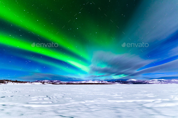 Intense display of Northern Lights Aurora borealis - Stock Photo - Images