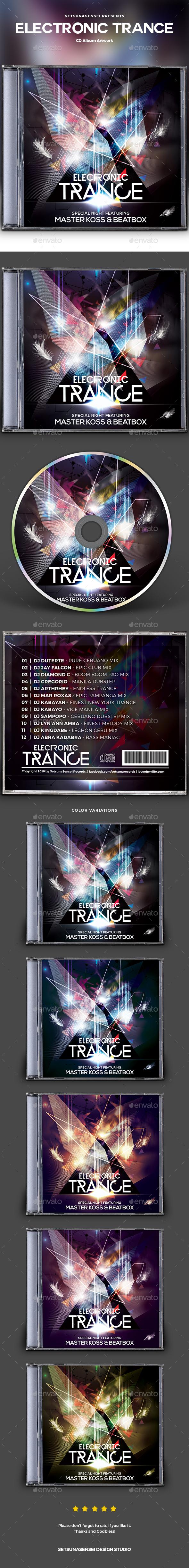 Electronic Trance CD Album Artwork - CD & DVD Artwork Print Templates