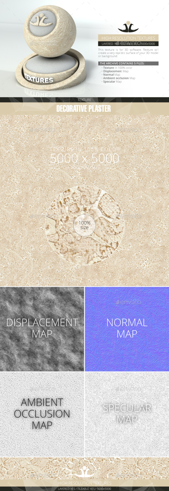 Decorative plaster 7 - 3DOcean Item for Sale