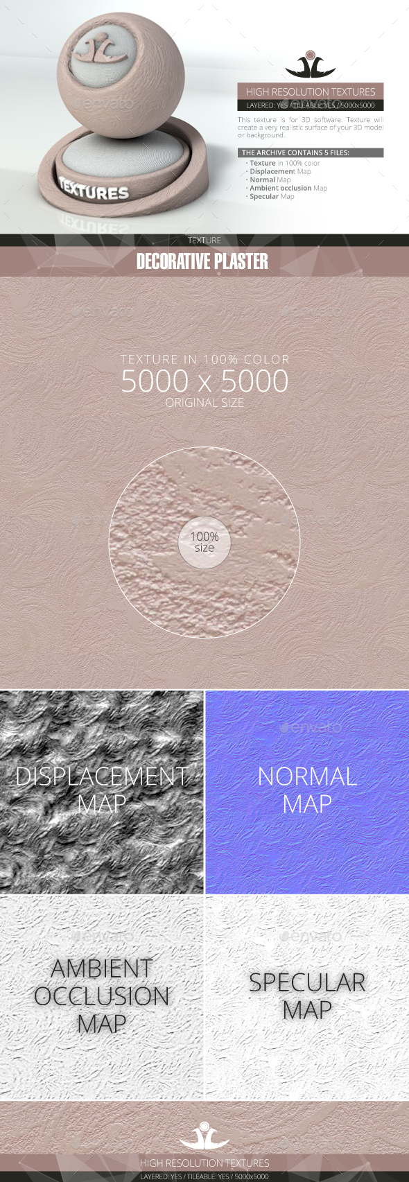 Decorative plaster 8 - 3DOcean Item for Sale