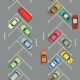 Urban Cars Seamless Texture Parking with Cars