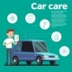 Cars Tips Vector Illustration