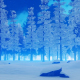 Evening in Snowy Jungle - VideoHive Item for Sale