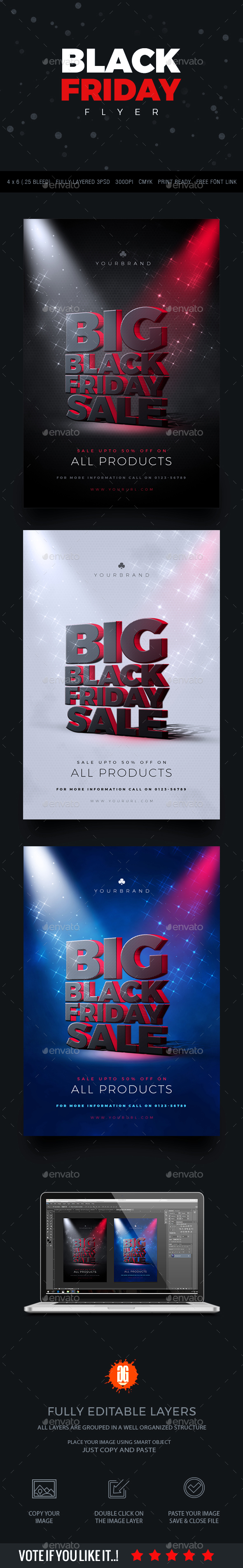 Black Friday Flyer - Flyers Print Templates