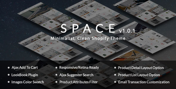 Space – Minimalist, Clean Shopify Theme            nulled