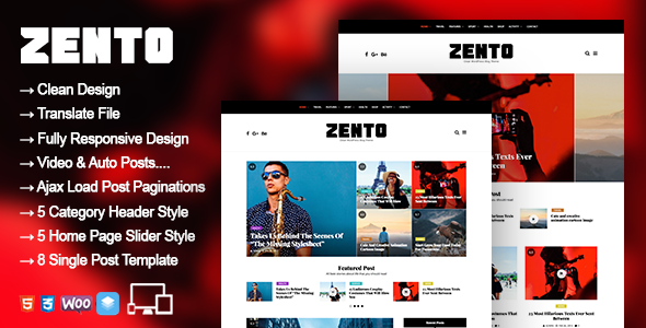 Zento - WordPress Blog Magazine Theme - News / Editorial Blog / Magazine