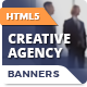 Creative Agency Banners - HTML5 Animated Ad Templates (GWD)
