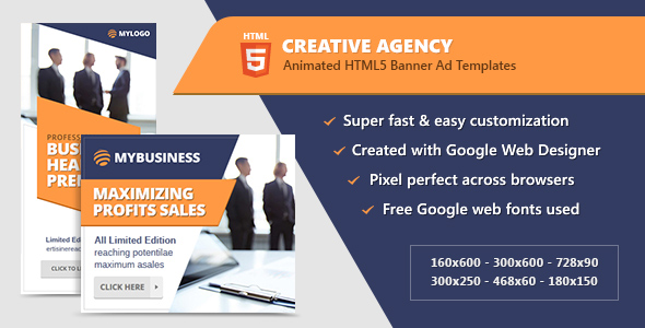CodeCanyon Creative Agency Banners HTML5 Animated Ad Templates GWD 20871400