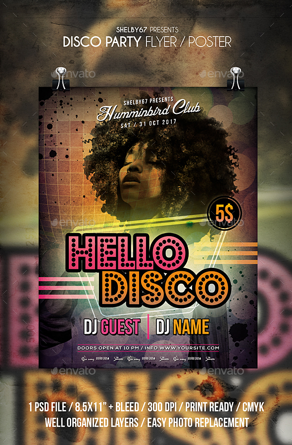 Disco Party Flyer / Poster - Clubs & Parties Events