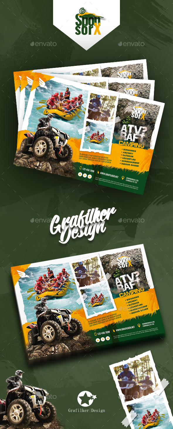GraphicRiver Camping Adventure Flyer Templates 20871429