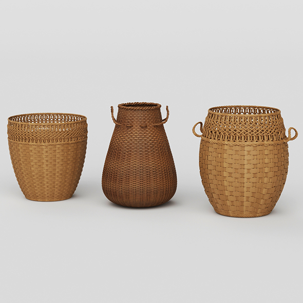 3DOcean Vray Ready Basket Collection 20871434