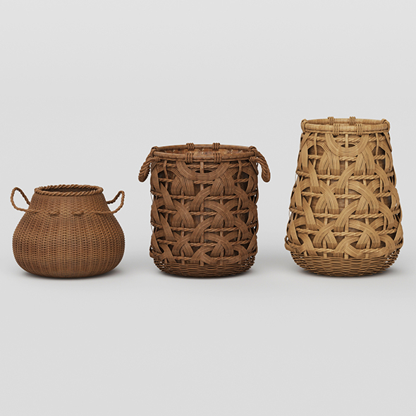 3DOcean Vray Ready Basket Collection 20871456