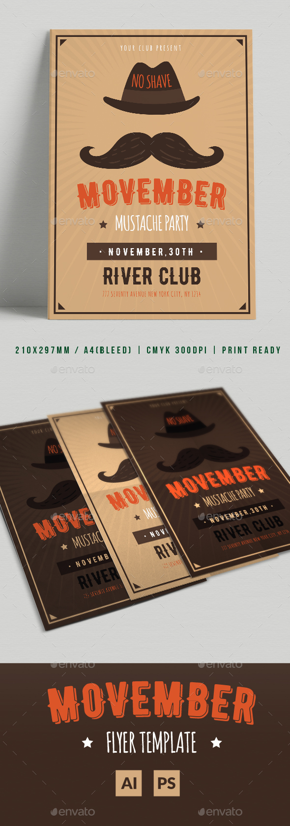 Movember Flyer - Flyers Print Templates