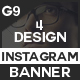 Instagram And Facebook Banner - GraphicRiver Item for Sale