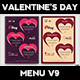 Valentines Day Menu Template V9 - GraphicRiver Item for Sale